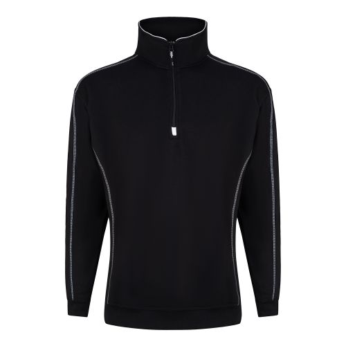 Crane 1/4 Zip Sweatshirt - S - Black