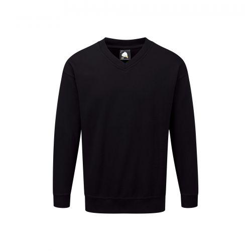 Buzzard V-Neck Sweatshirt - XS - Black
