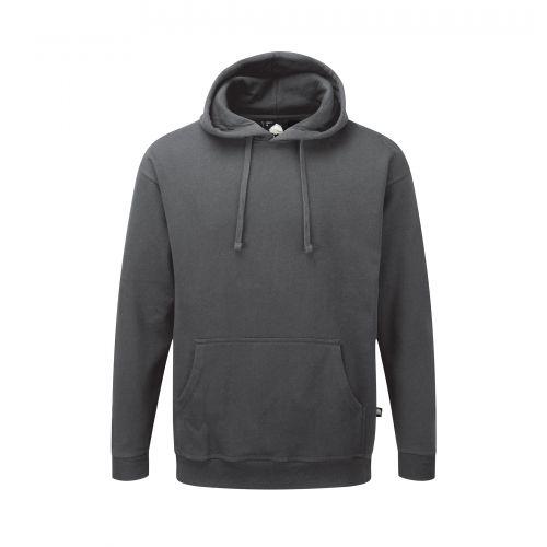 Owl Hooded Sweatshirt - L - Graphite
