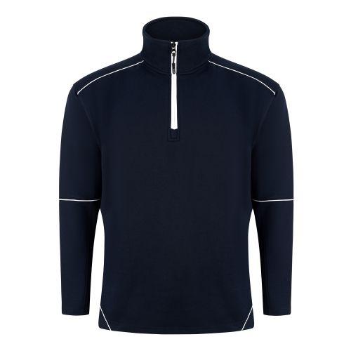 Fireback 1/4 Zip Sweatshirt - 4XL - Navy - Navy