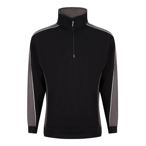 Avocet 1/4 Zip Sweatshirt - 4XL - Navy - Red