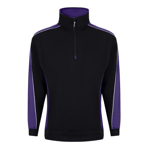 Avocet 1/4 Zip Sweatshirt - S - Black - Purple