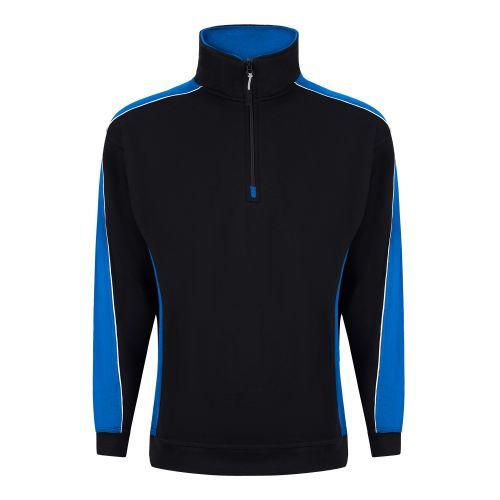 Avocet 1/4 Zip Sweatshirt - XL - Black - Reflex Blue