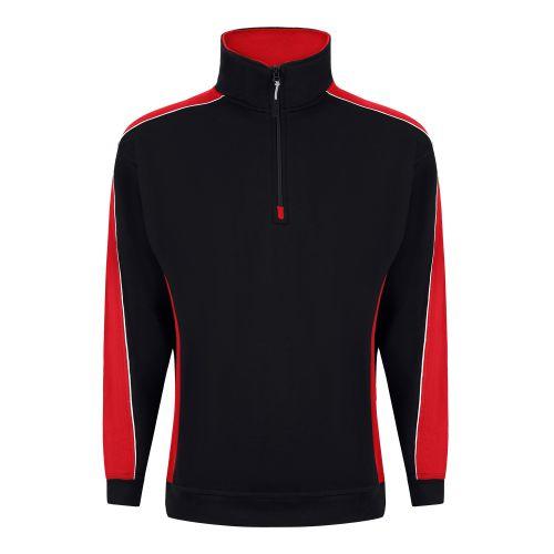 Avocet 1/4 Zip Sweatshirt - 3XL - Black - Royal Blue