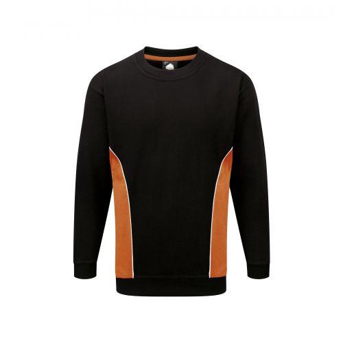 Silverswift Premium Sweatshirt - 4XL - Black - Orange