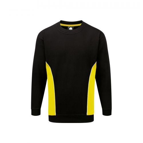 Silverswift Premium Sweatshirt - M - Black - Yellow
