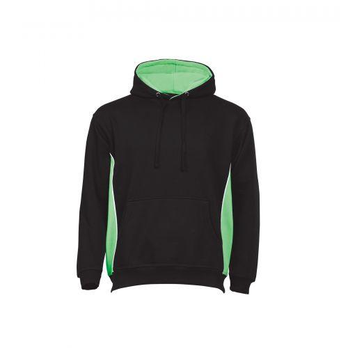 Silverswift Hooded Sweatshirt - 5XL - Black - Lime