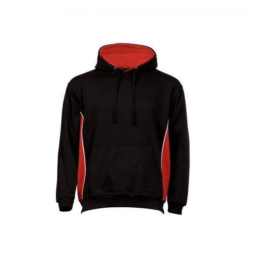 Silverswift Hooded Sweatshirt - 5XL - Black - Red