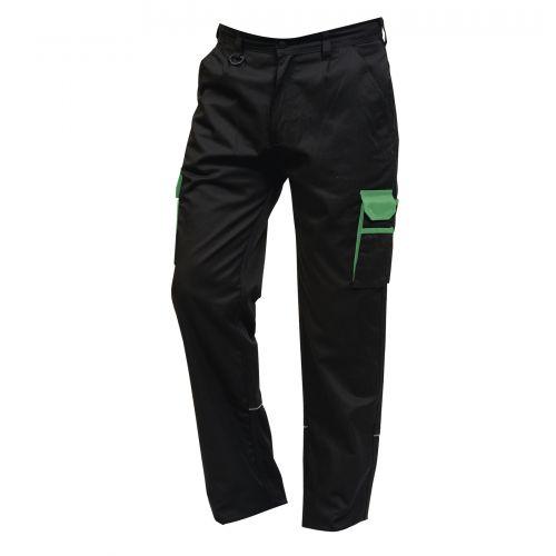 Silverswift Combat Trouser - 48R - Black - Lime