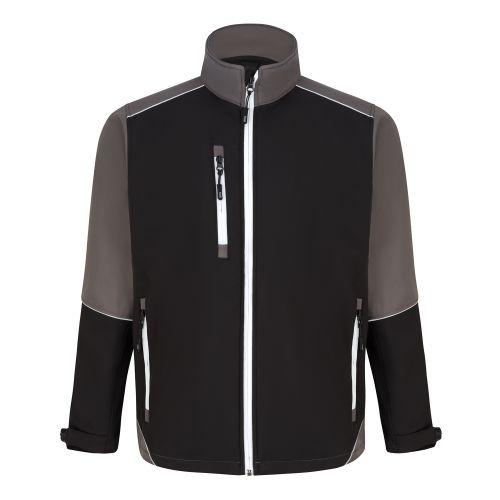 Fireback Softshell Jacket - XL - Black - Graphite