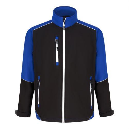 Fireback Softshell Jacket - 2XL - Black - Royal Blue