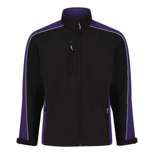 Avocet Softshell Jacket - XS - Black - Purple