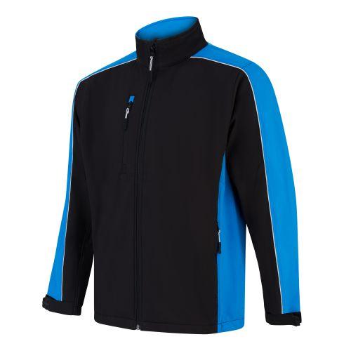 Avocet Softshell Jacket - L - Black - Reflex Blue