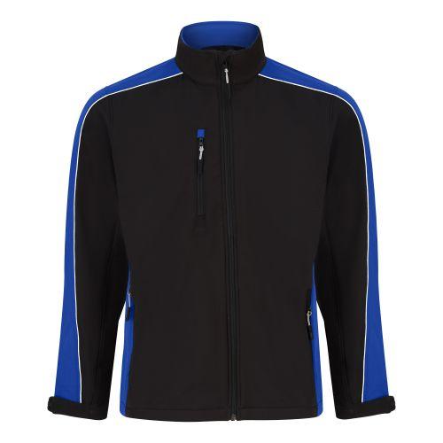 Avocet Softshell Jacket - XL - Black - Reflex Blue
