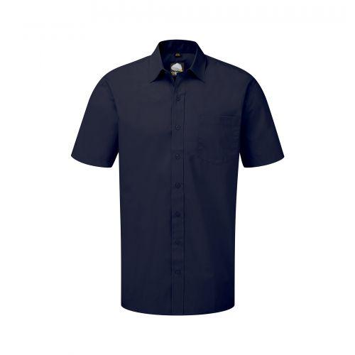Manchester Premium S/S Shirt - 17.5 - Navy