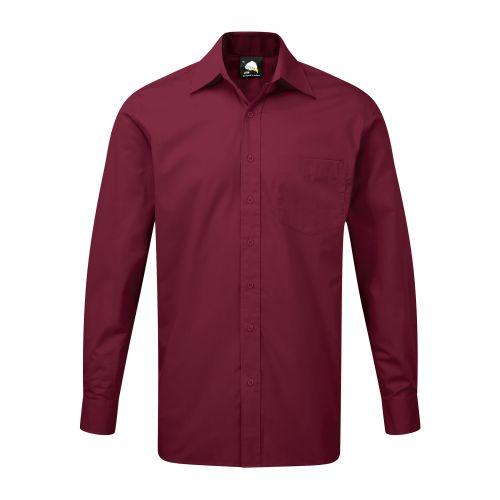 Manchester Premium L/S Shirt - 23 - Burgundy