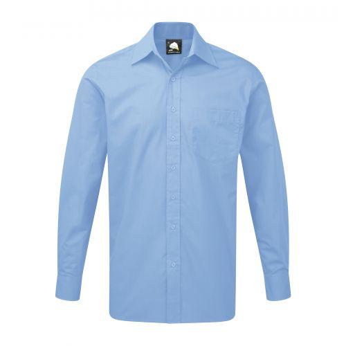 Manchester Premium L/S Shirt - 20 - Cornflower