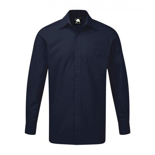 Manchester Premium L/S Shirt - 15.5 - Navy