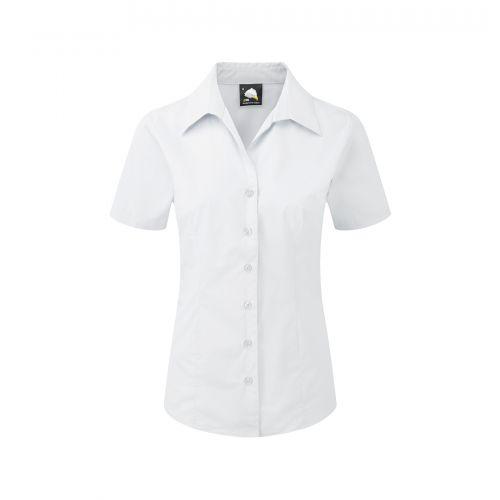 Edinburgh Premium S/S Blouse - 18 - White