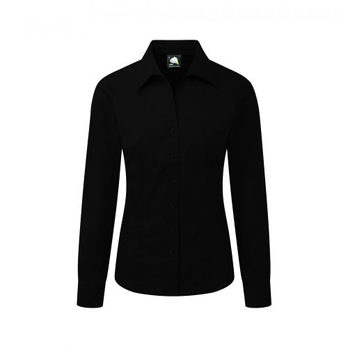 Edinburgh Premium L/S Blouse - 30 - Black