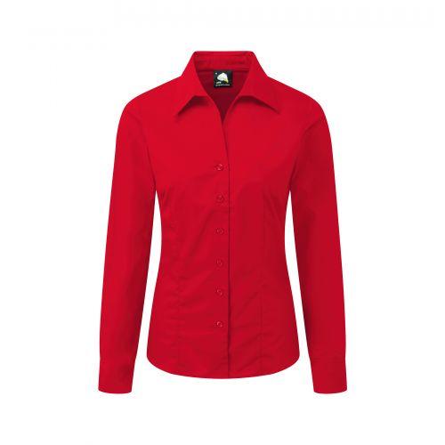 Edinburgh Premium L/S Blouse - 16 - Red