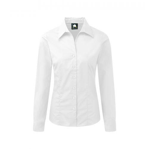 Edinburgh Premium L/S Blouse - 8 - White