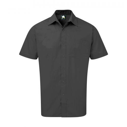 Essential S/S Shirt - 15.5 - Dark Grey