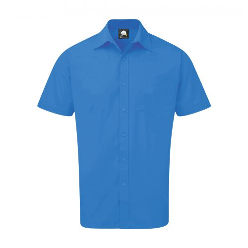 Essential S/S Shirt - 15 - Mid Blue