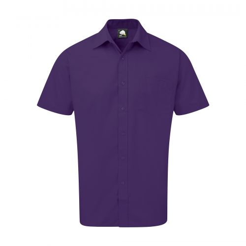 Essential S/S Shirt - 18.5 - Purple