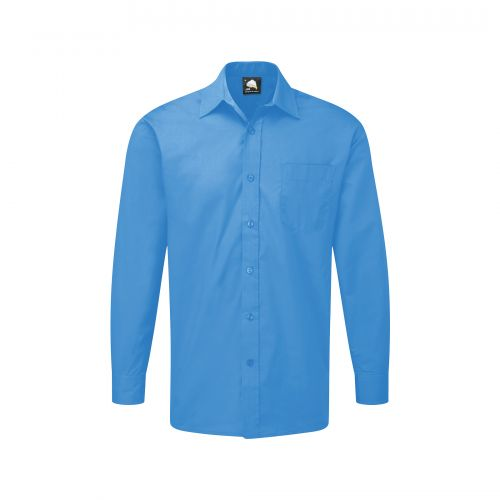 Essential L/S Shirt - 15 - Mid Blue