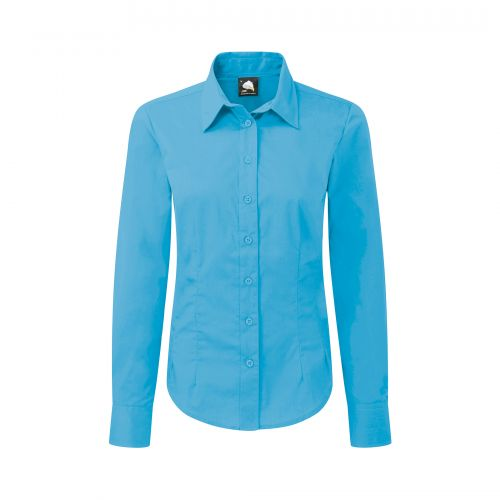 Essential L/S Blouse - 6 - Teal