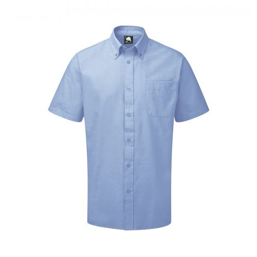 Premium Oxford S/S Shirt - 19.5 - Sky