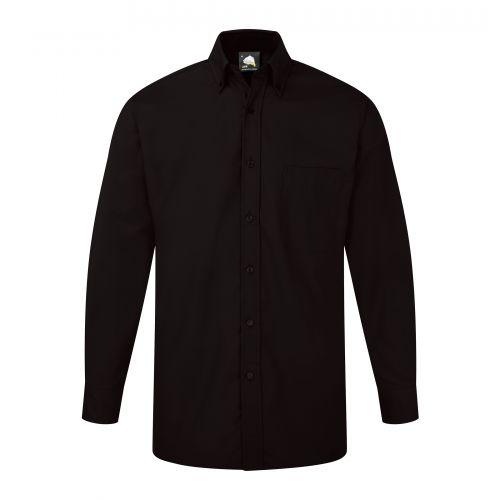 Premium Oxford L/S Shirt - 14.5 - Black
