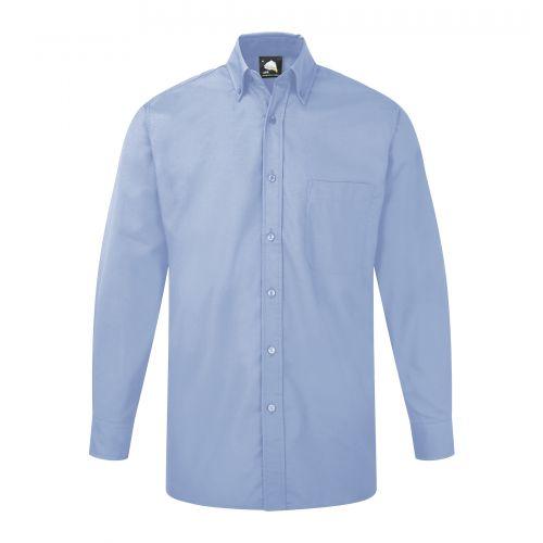 Premium Oxford L/S Shirt - 19.5 - Sky