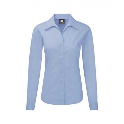 Premium Oxford L/S Blouse - 8 - Sky