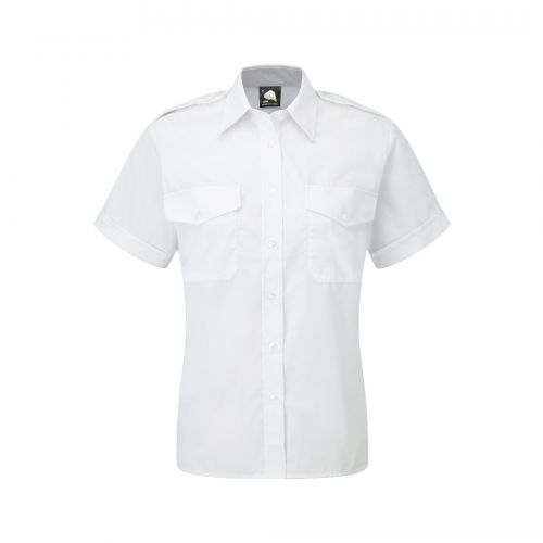 Premium S/S Pilot Blouse - 10 - White