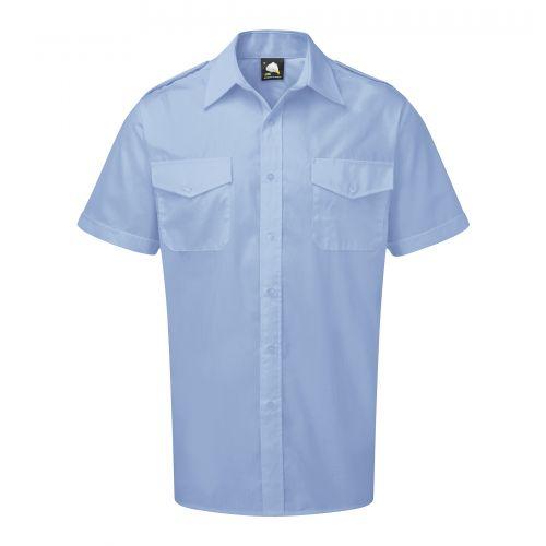 Essential S/S Pilot Shirt - 16.5 - Sky