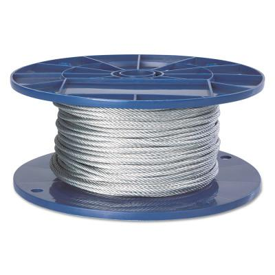 PEERLESS Fiber Core Wire Ropes, 6 Strands, 19 Strands/Wire, 1/4 in, 1,096 lb Load