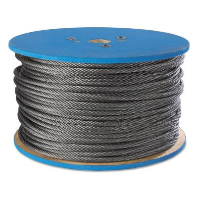 PEERLESS Aircraft Quality Wire Ropes, 7 Strands, 19 Strands/Wire, 3/8 in, 2,880 lb Load