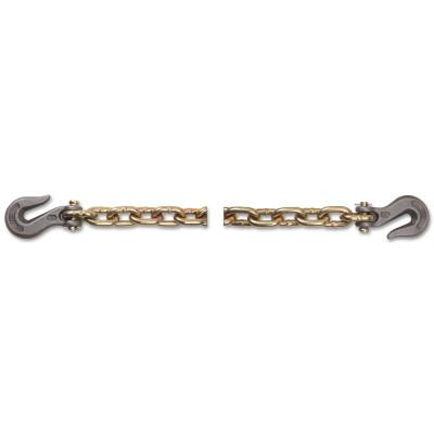 PEERLESS Grade 70 Transport Chains, 3/8 in, 6,600 lb Limit, Yellow Dichromate