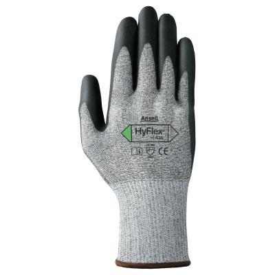 HYFLEX HyFlex 11-435 Cut-Resistant Gloves, Size 7, Black; Heather Gray