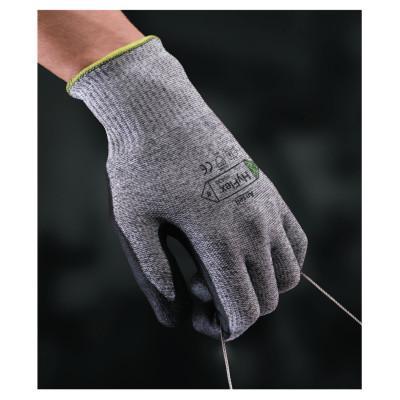 HYFLEX HyFlex 11-435 Cut-Resistant Gloves, Size 8, Black; Heather Gray