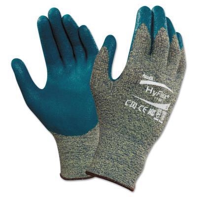 HYFLEX HyFlex® CR+ Gloves, Gray/Blue, Size 10