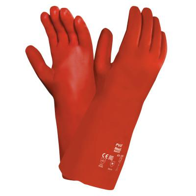 ANSELL Polyvinyl Alcohol Gloves, Size 10, Red