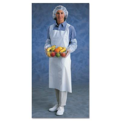 ANSELL Disposable Polyethylene Aprons, 28 in X 45 in, Polyethylene, White