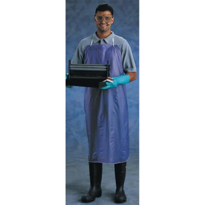 ANSELL CPP Vinyl Apron, 8 mil, 33 in x 44 in, Blue