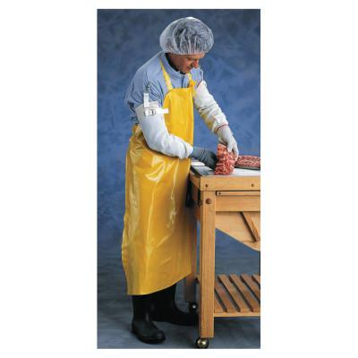 ANSELL CPP Supported Neoprene Apron, 35 in x 45 in, Yellow