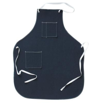 ANSELL CPP Shop Aprons, 36 in x 28 in, Denim, Blue