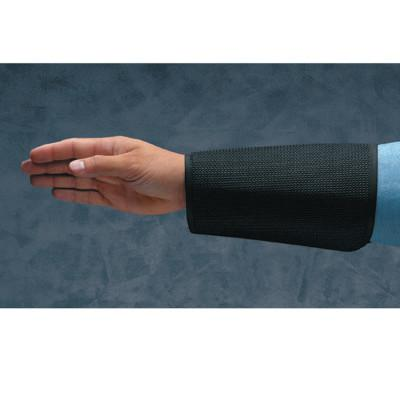 ANSELL Cane Mesh Sleeves, 9 in Long, Velcro Closure, Black