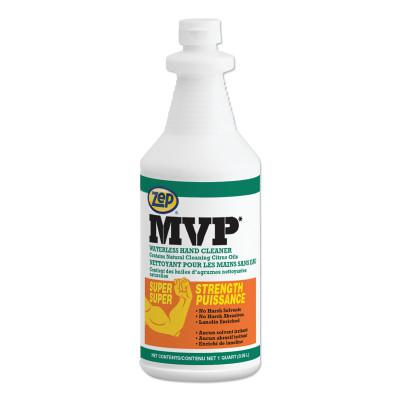 ZEP PROFESSIONAL MVP Heavy-Duty Waterless Hand Cleaner, 1 qt Squeeze Bottle